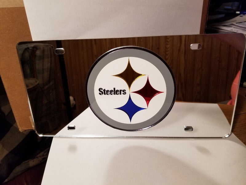 NFL Pittsburgh Steelers Laser License Plate Tag - Silver