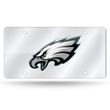 NFL Philadelphia Eagles Laser License Plate Tag - Silver