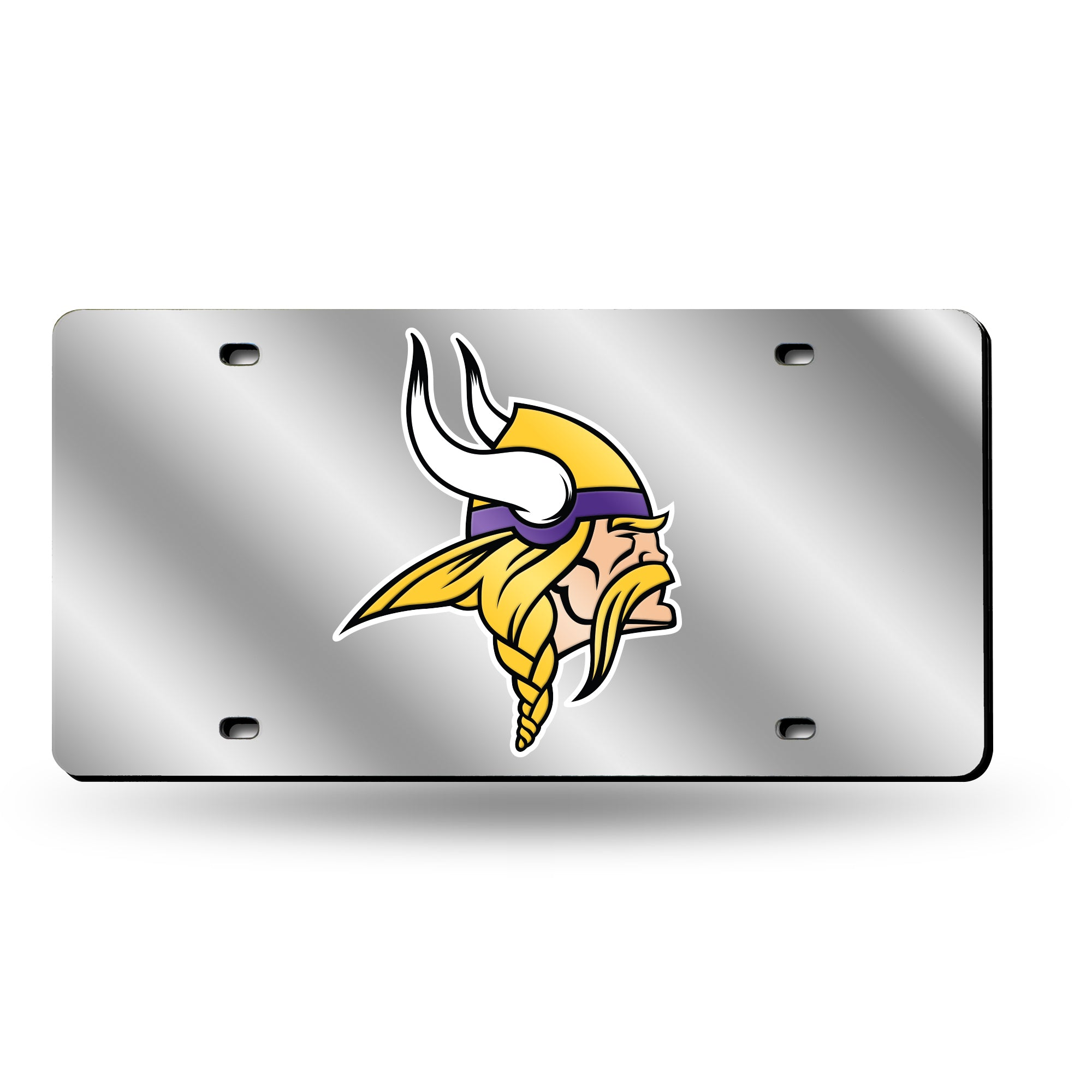 NFL Minnesota Vikings Laser License Plate Tag - Silver