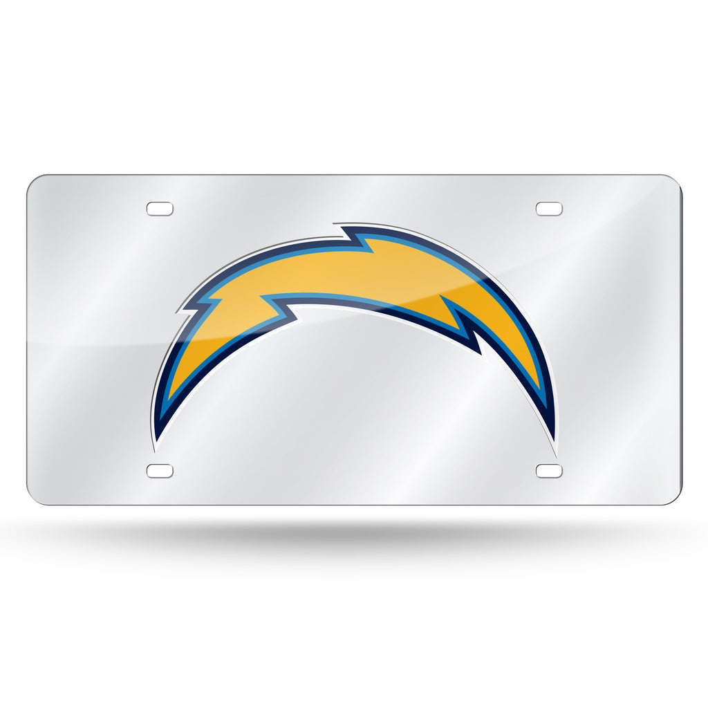 NFL Los Angeles Chargers Laser License Plate Tag - Silver