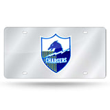 NFL Los Angeles Chargers Retro Laser License Plate Tag - Silver