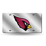 NFL Arizona Cardinals Laser License Plate Tag - Silver