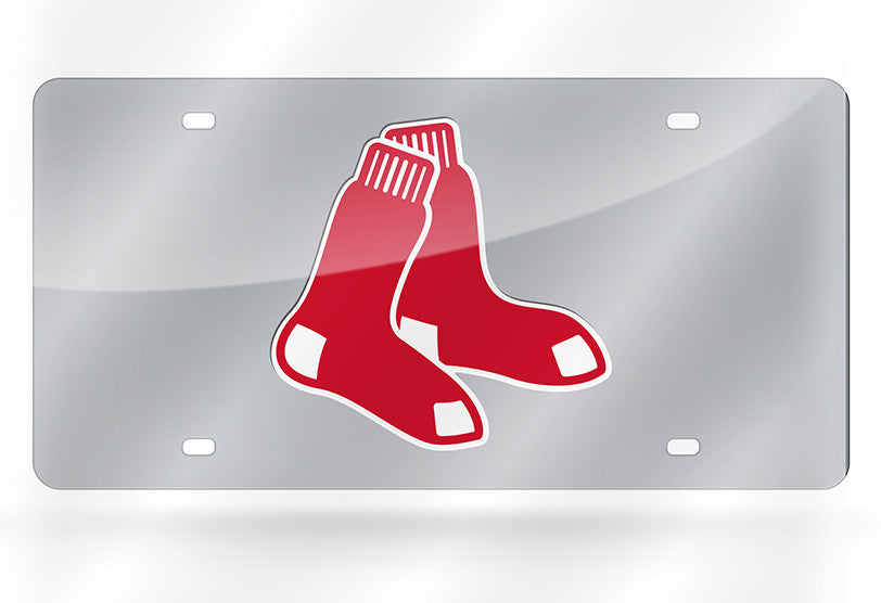 MLB Boston Red Sox Laser License Plate Tag - Silver