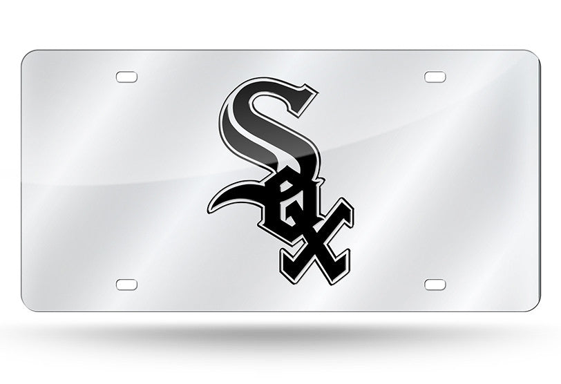 MLB Chicago White Sox Laser License Plate Tag - Silver