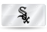MLB Chicago White Sox Laser License Plate Tag - Silver - Hockey Cards Plus LLC