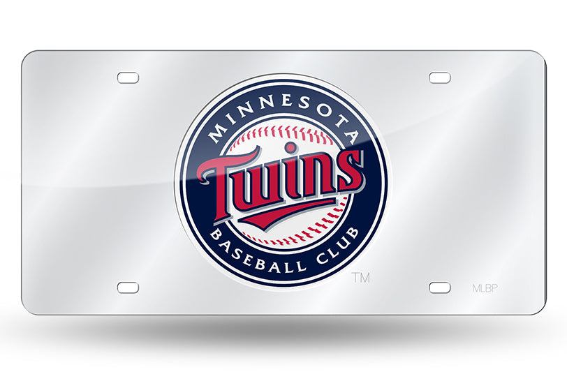 MLB Minnesota Twins Laser License Plate Tag - Silver