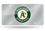 MLB Oakland Athletics Laser License Plate Tag - Silver
