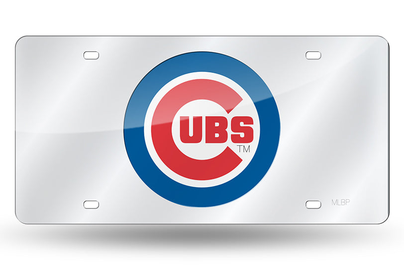 MLB Chicago Cubs Laser License Plate Tag - Silver