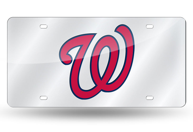 MLB Washington Nationals Laser License Plate Tag - Silver