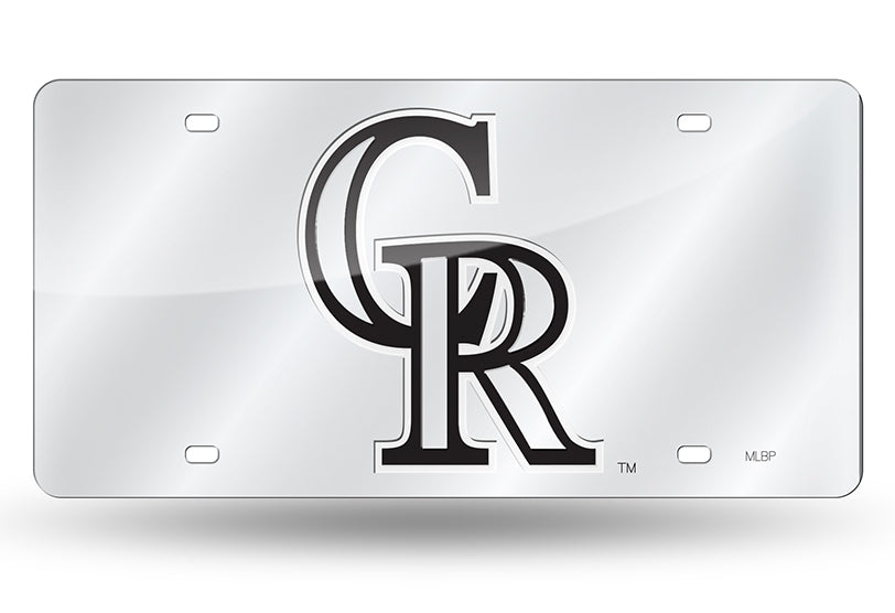 MLB Colorado Rockies Laser License Plate Tag - Silver