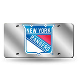 NHL New York Rangers Laser License Plate Tag - Silver