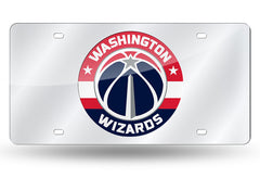 NBA Washington Wizards Laser License Plate Tag - Silver