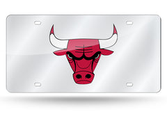NBA Chicago Bulls Laser License Plate Tag - Silver