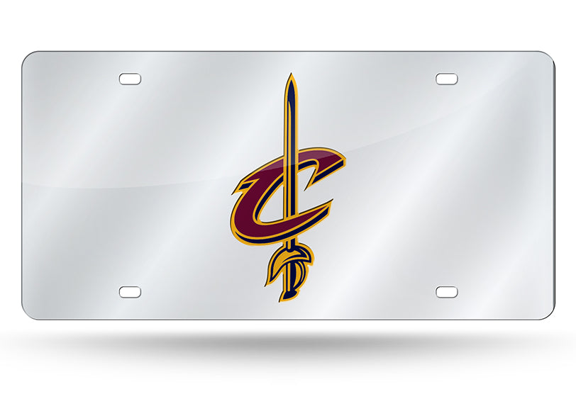 NBA Cleveland Cavaliers Laser License Plate Tag - Silver