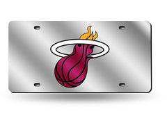 NBA Miami Heat Laser License Plate Tag - Silver