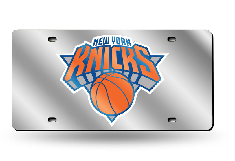 NBA New York Knicks Laser License Plate Tag - Silver