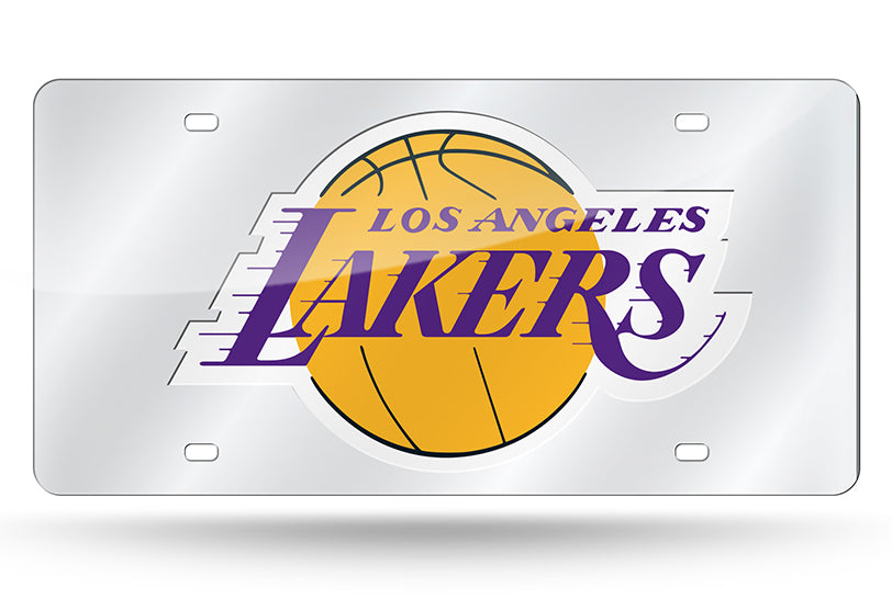 NBA Los Angeles Lakers Laser License Plate Tag - Silver