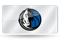 NBA Dallas Mavericks Laser License Plate Tag - Silver