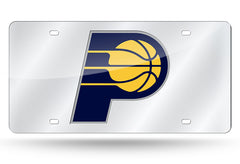 NBA Indiana Pacers Laser License Plate Tag - Silver