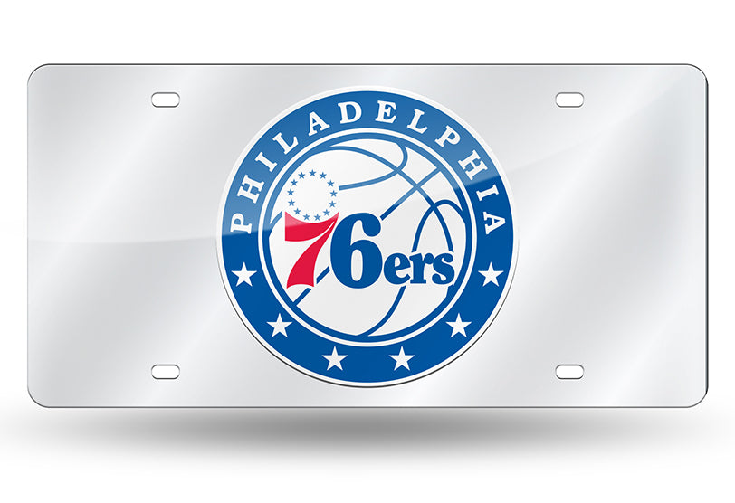 NBA Philadelphia 76ers Laser License Plate Tag - Silver