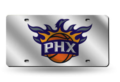 NBA Phoenix Suns Laser License Plate Tag - Silver