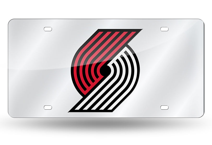 NBA Portland Trail Blazers Laser License Plate Tag - Silver