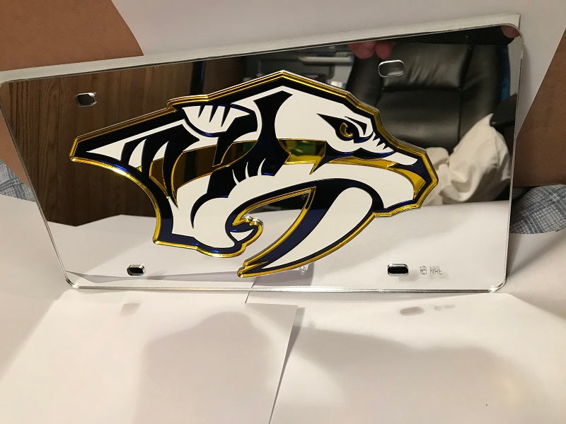 NHL Nashville Predators Laser License Plate Tag - Silver