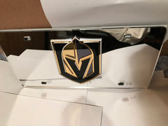 NHL Vegas Golden Knights Laser License Plate Tag - Silver