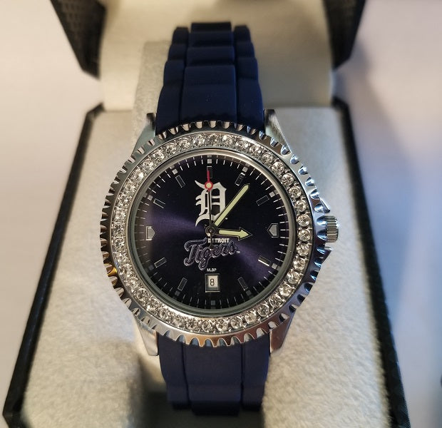 NEW!! MLB Detroit Tigers Women's Sparkle Watch