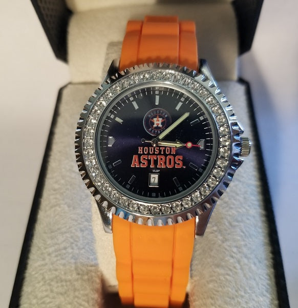 MLB Houston Astros Women's Sparkle Watch