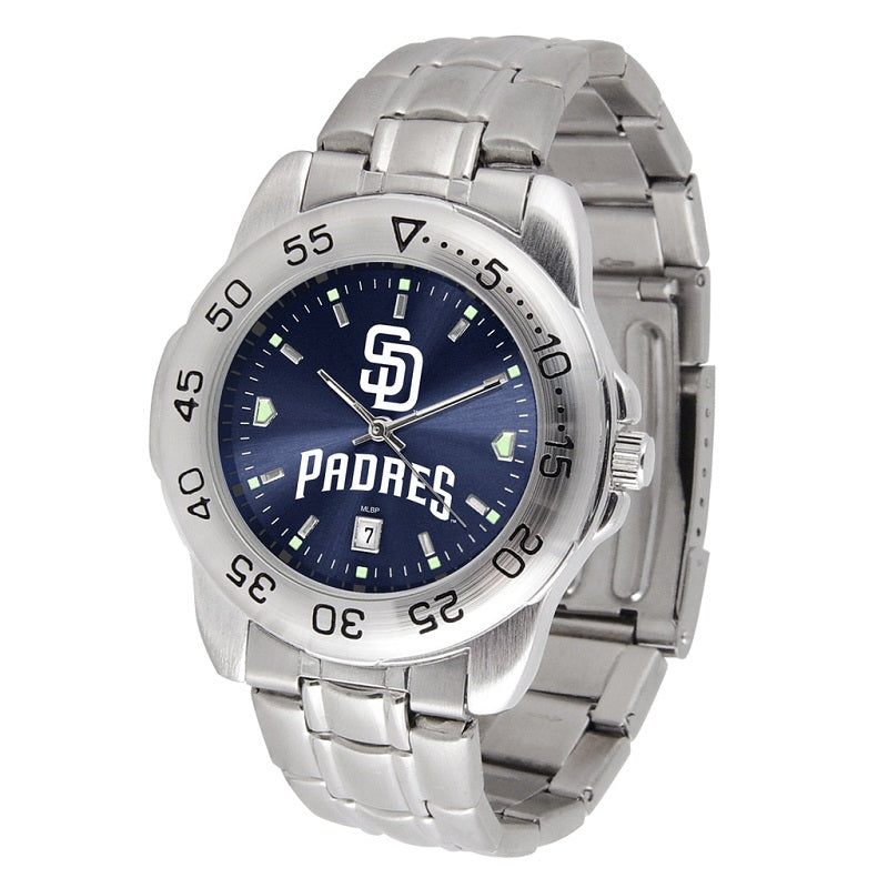 MLB San Diego Padres Men's Sport Steel Watch