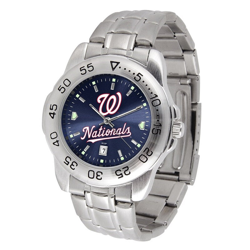 MLB Washington Nationals Men's Sport Steel Watch