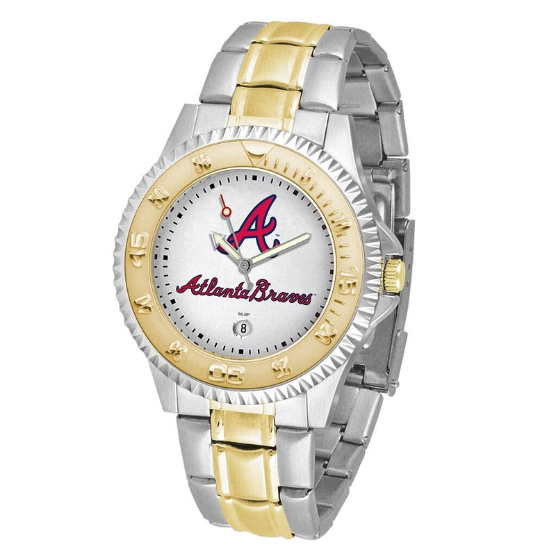 MLB Atlanta Braves Men's Two-Tone Competitor Watch