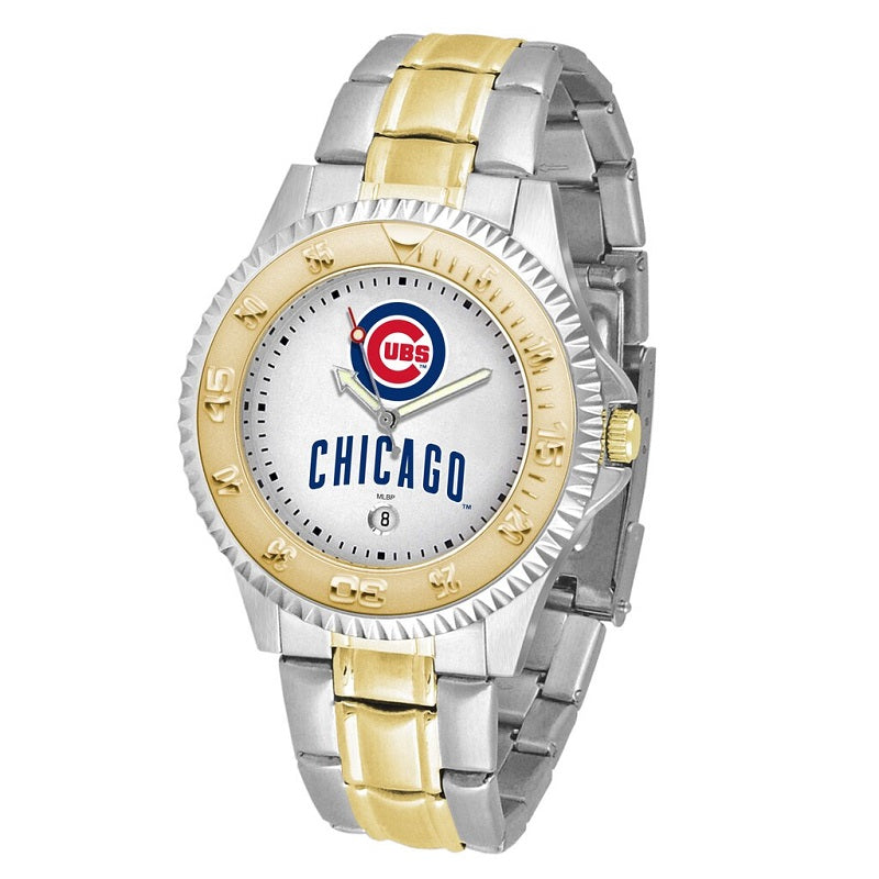 MLB Chicago Cubs Men's Two-Tone Competitor Watch