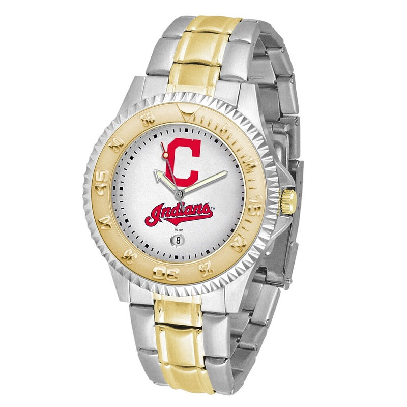 MLB Cleveland Indians Men's Two-Tone Competitor Watch