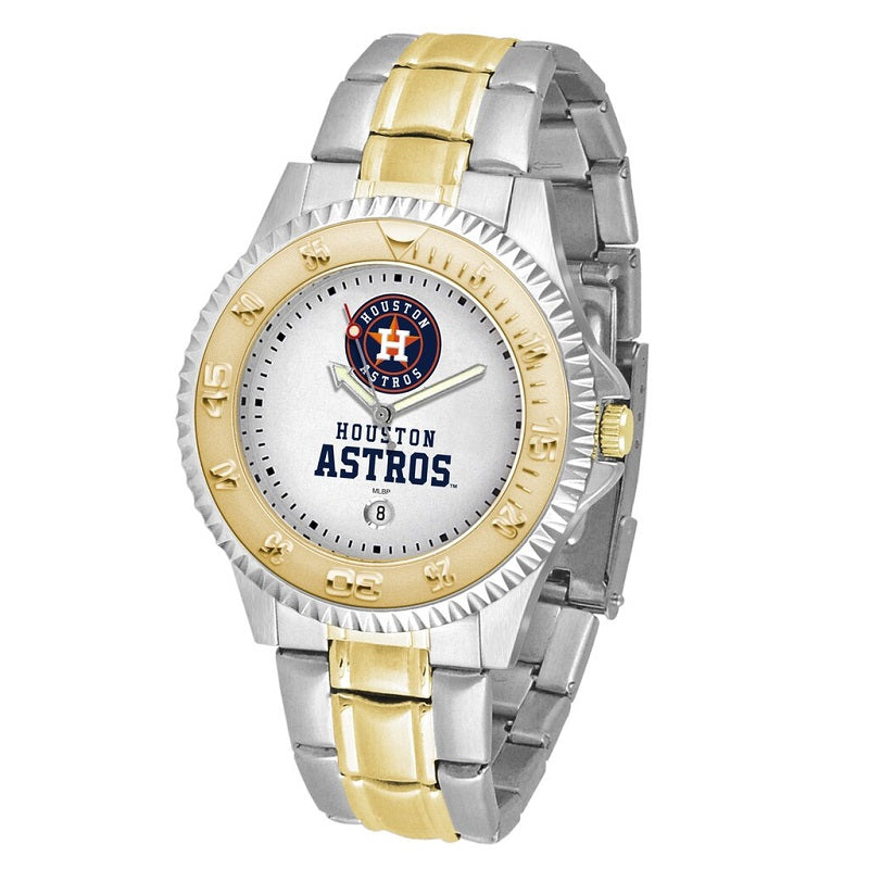 MLB Houston Astros Men's Two-Tone Competitor Watch