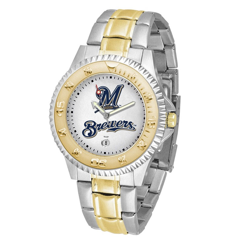 MLB Milwaukee Brewers Men's Two-Tone Competitor Watch