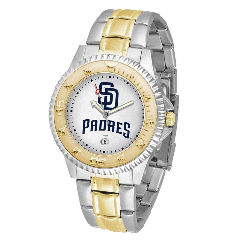 MLB San Diego Padres Men's Two-Tone Competitor Watch