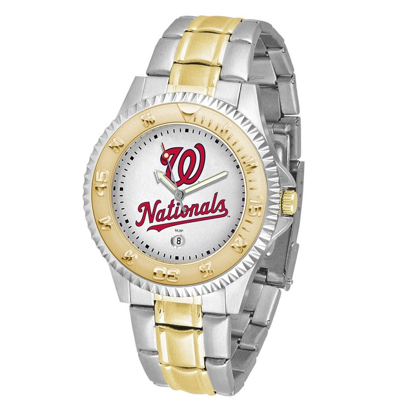 MLB Washington Nationals Men's Two-Tone Competitor Watch