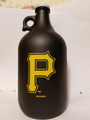 MLB Pittsburgh Pirates 64oz Color Frosted Collectible Growler with Team Logo