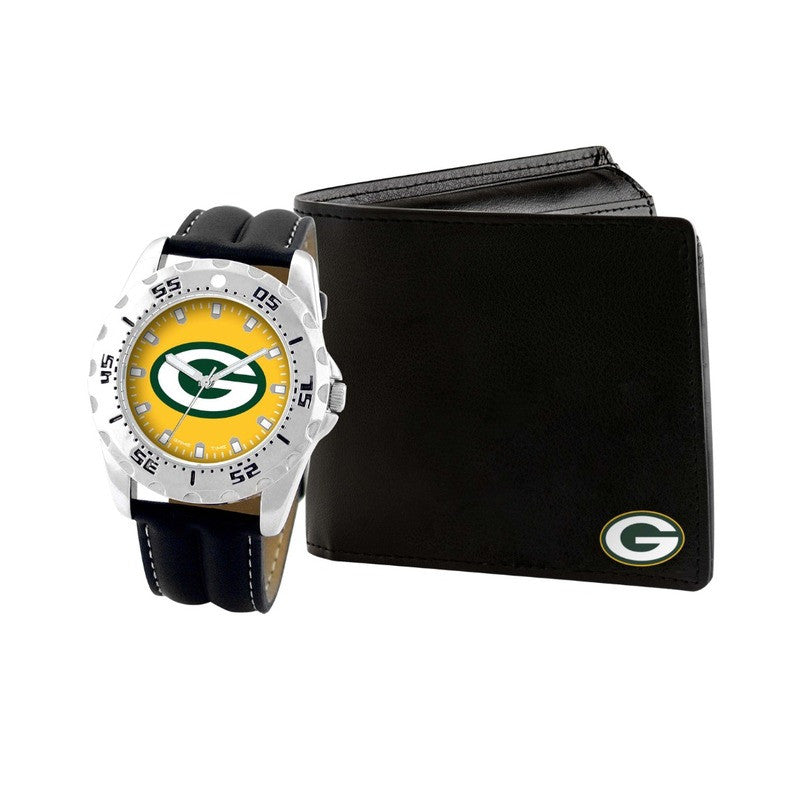 NFL Green Bay Packers Men's Watch and Wallet Gift Set