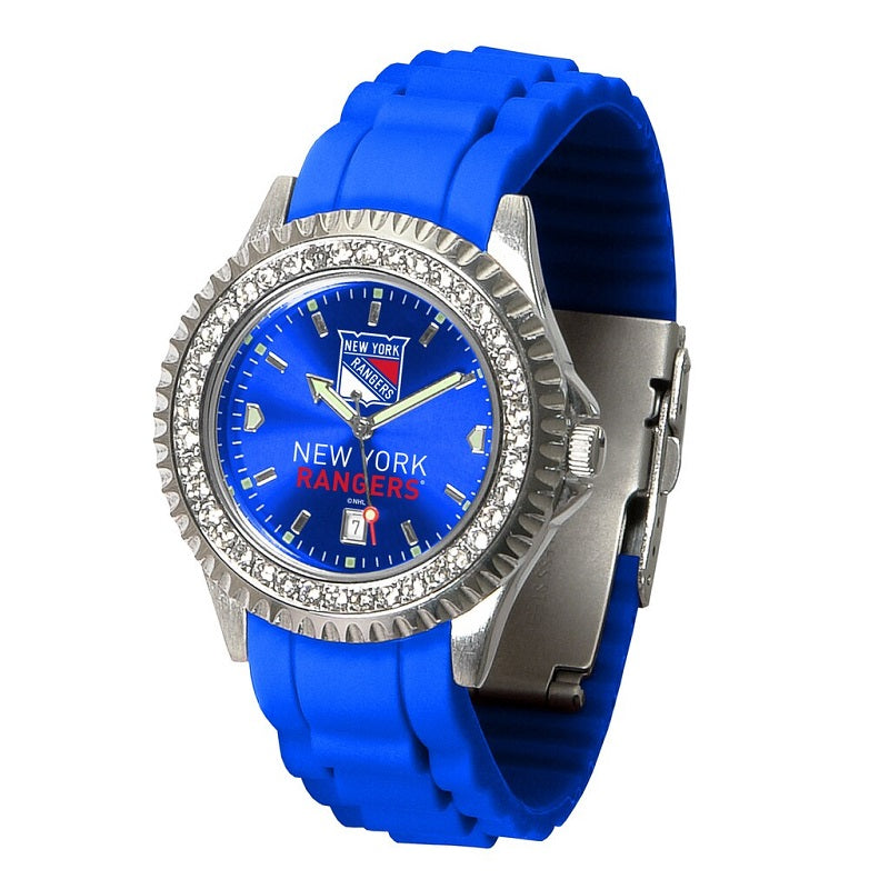 NHL New York Rangers Women's Sparkle Watch