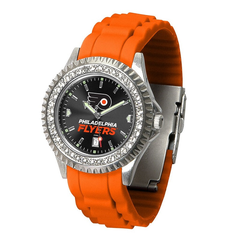 NHL Philadelphia Flyers Women's Sparkle Watch