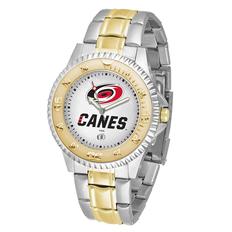 NHL Carolina Hurricanes Men's Two-Tone Competitor Watch