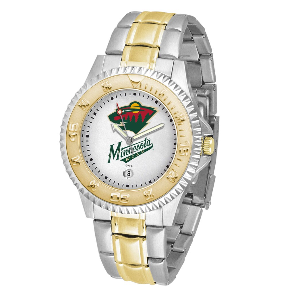 NHL Minnesota Wild Men's Two-Tone Competitor Watch
