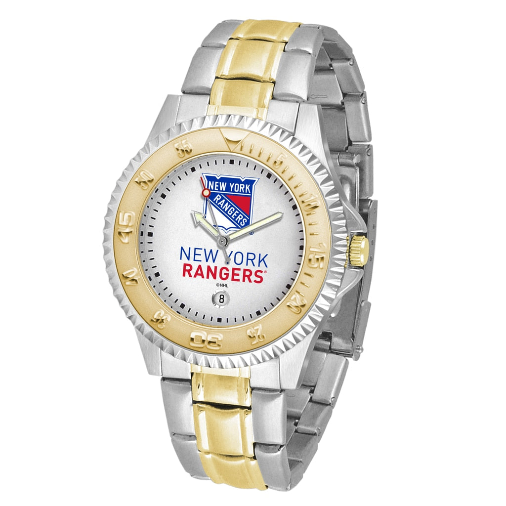 NHL New York Rangers Men's Two-Tone Competitor Watch