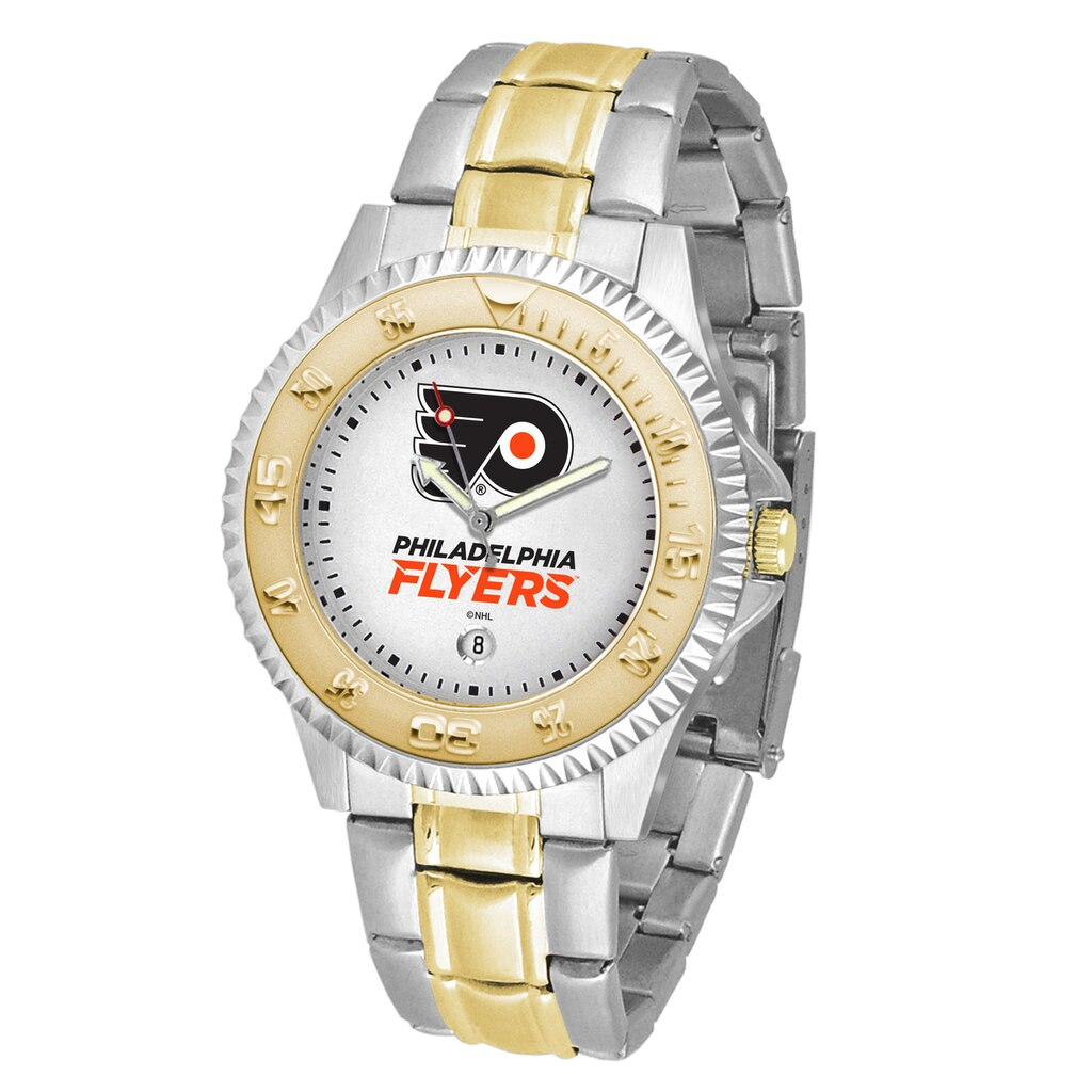 NHL Philadelphia Flyers Men's Two-Tone Competitor Watch