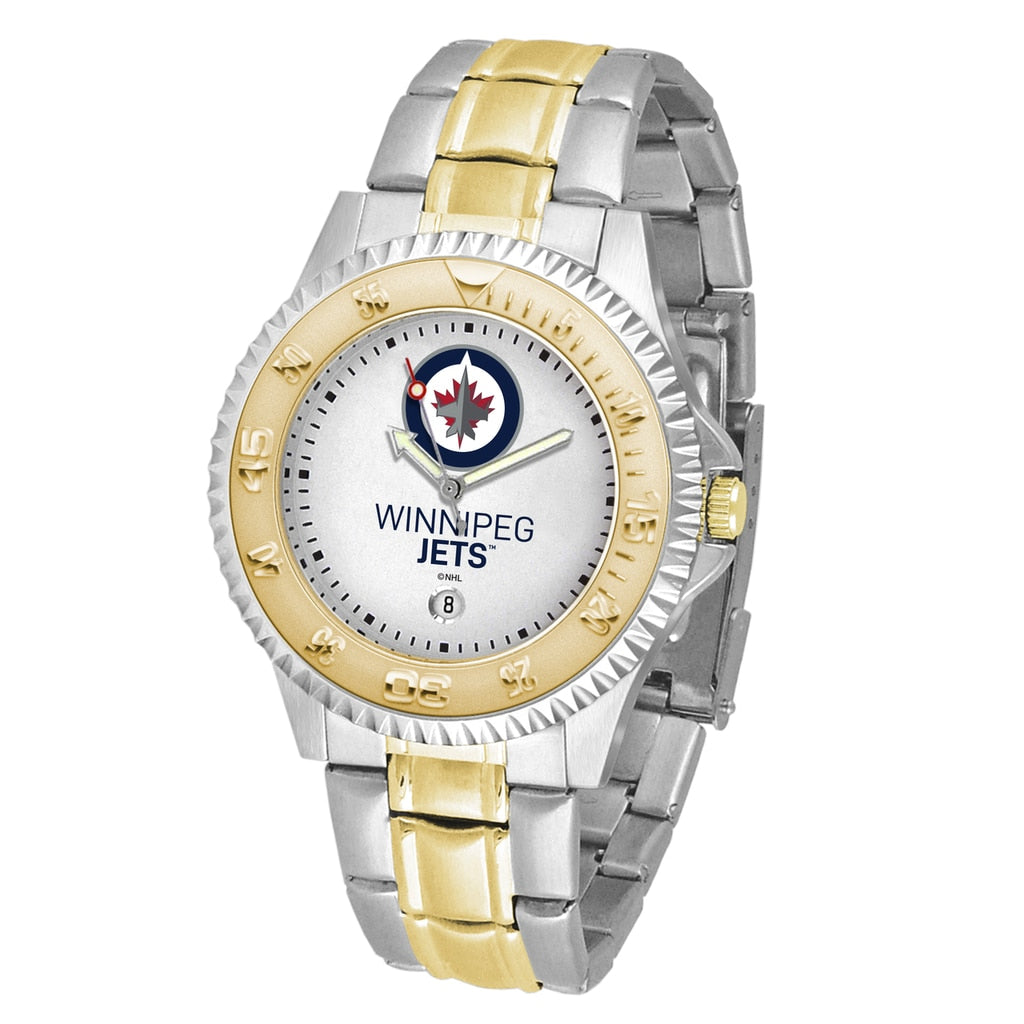 NHL Winnipeg Jets Men's Two-Tone Competitor Watch
