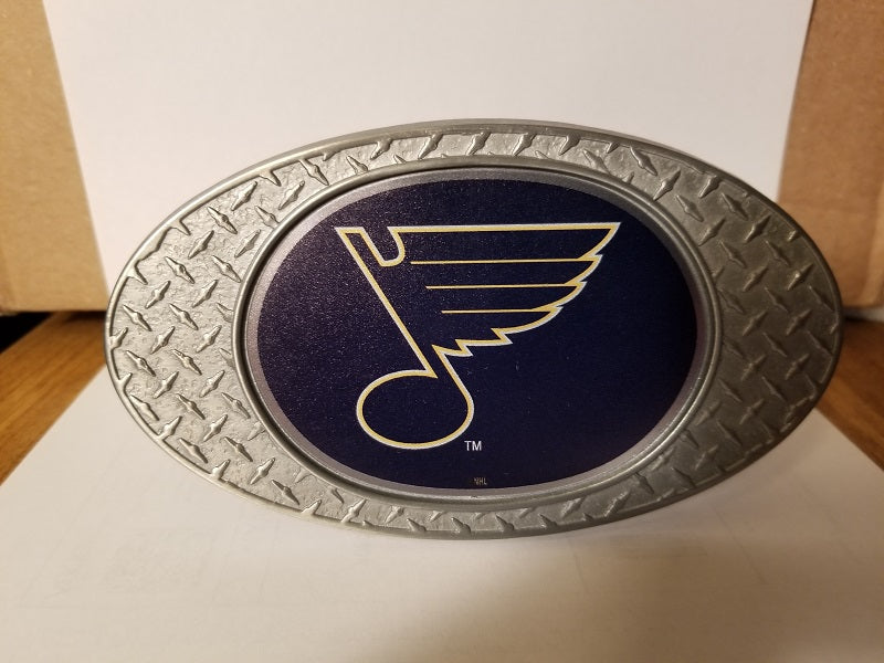 NEW!! NHL St. Louis Blues Metal Diamond Plate Trailer Hitch Cover