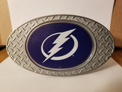 NEW!! NHL Tampa Bay Lightning Metal Diamond Plate Trailer Hitch Cover